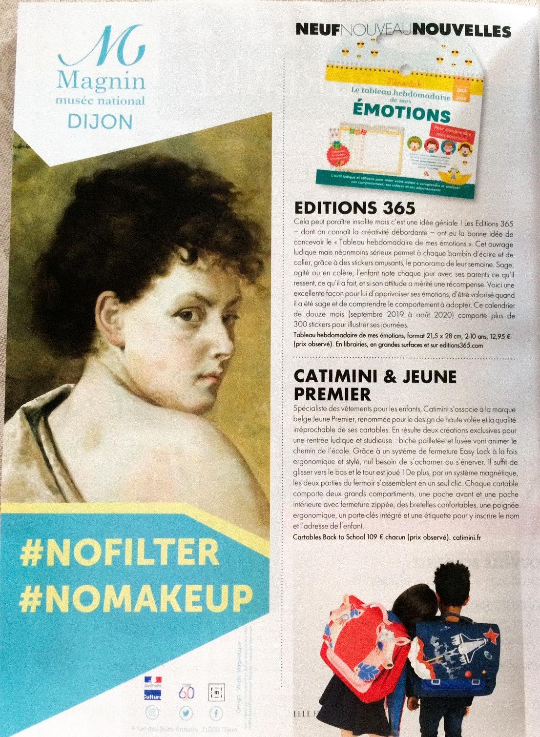 Campagne d'affichage dans le magazine Elle