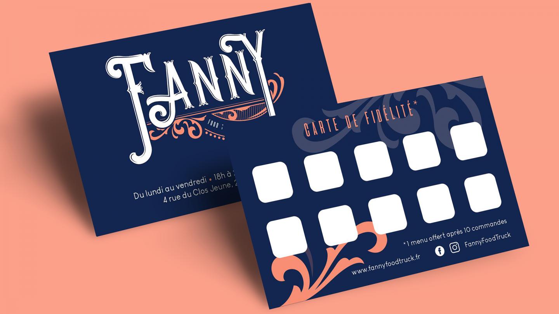 Carte de fidélité de Fanny