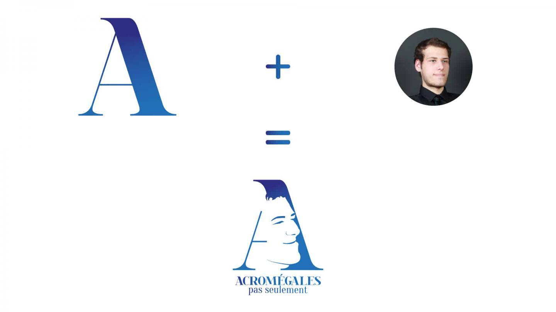 Concept du logo de l'association Acromégalies pas seulement
