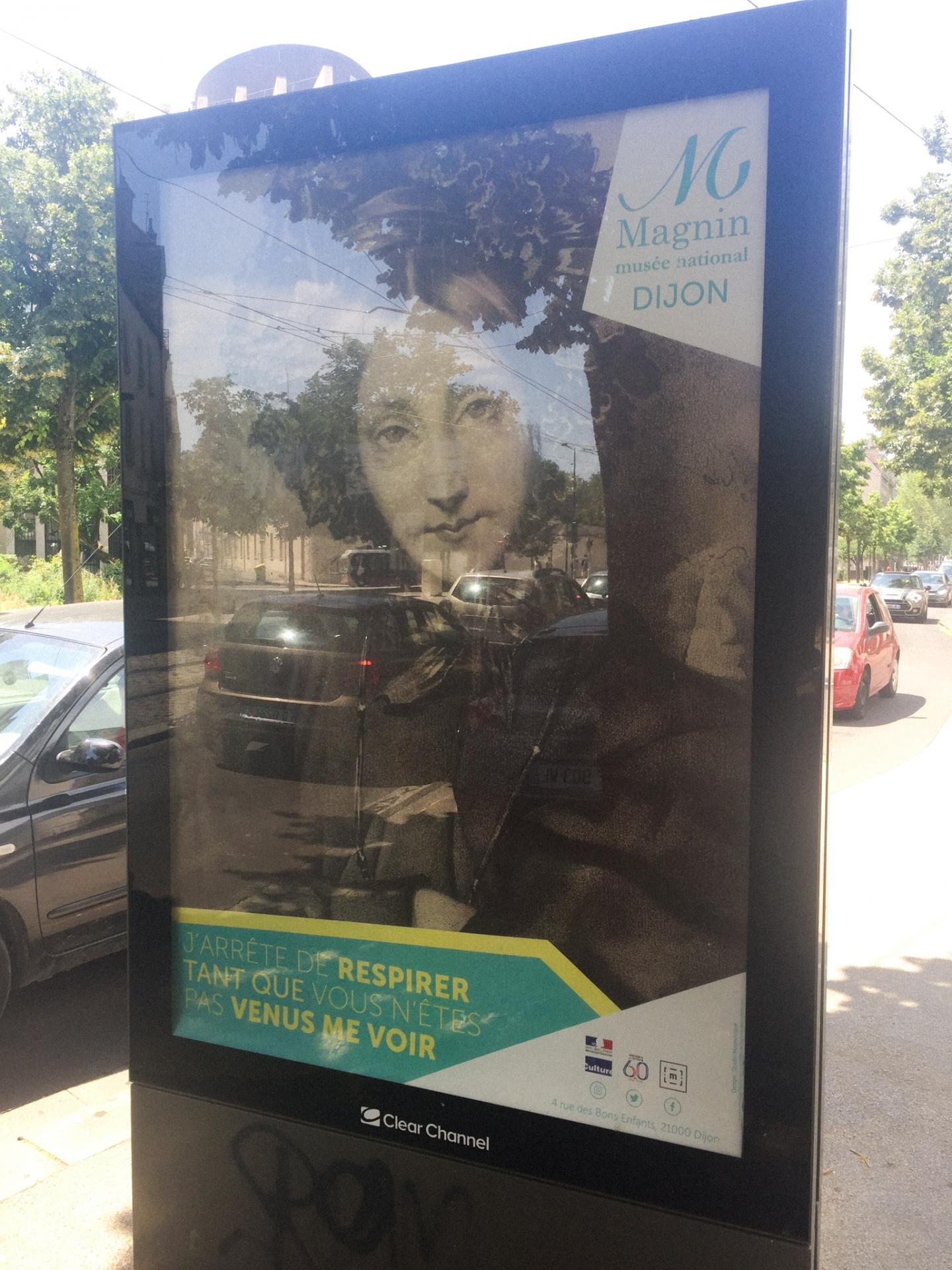 Campagne d'affichage du musée Magnin quatrième affiche dans la rue