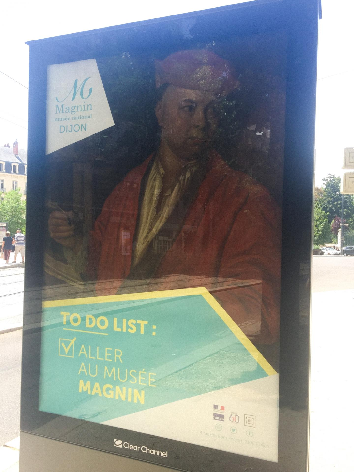 Campagne d'affichage du musée Magnin troisième affiche dans la rue