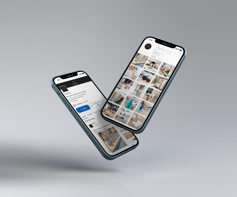 Réseaux sociaux de AUMA sur smartphone