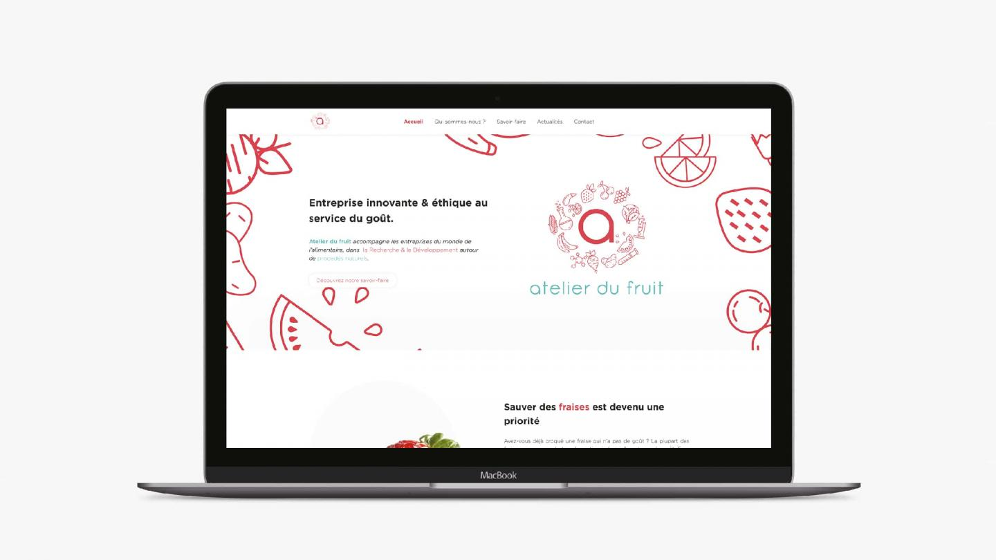 Atelier du fruit site internet